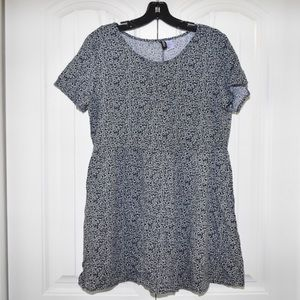Blue & white floral baby doll tunic size 12